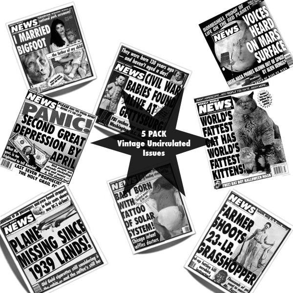 Vintage Issue Bundle of the Weekly World News - 5 Pack