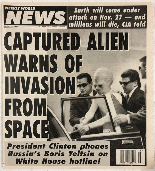 CAPTURED ALIEN WARNS OF INVASION FROM SPACE!