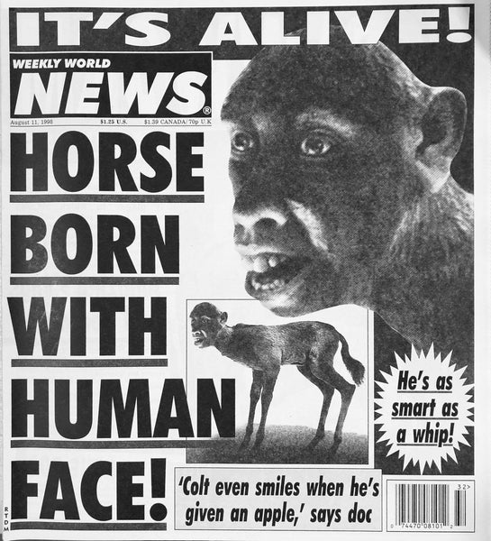 HORSE BORN WITH A HUMAN FACE!