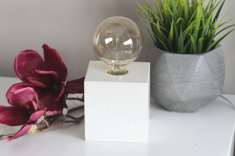 Concrete Cube Table Lamp | Concrete Light