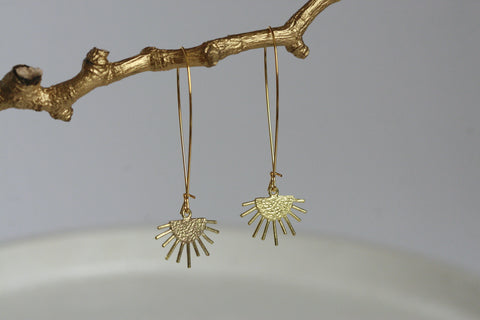 Starburst Earrings | Brass - Kaiko Studio