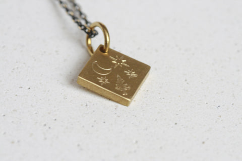 Delicate Night-Sky Brass Necklaces | Stargazing - Kaiko Studio