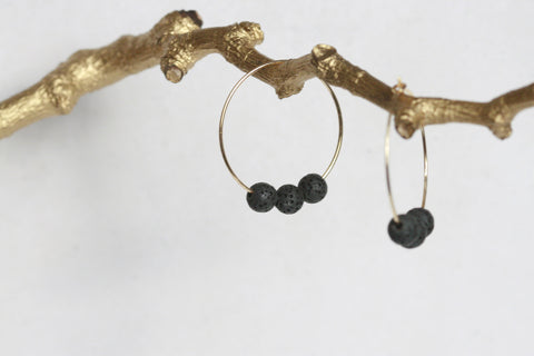 Lava Earrings | Essential Oil Diffuser Earrings - Kaiko Studio