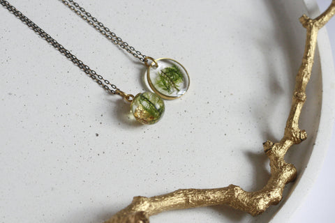 Wicklow Moss Necklace | Botanical Jewellery - Kaiko Studio