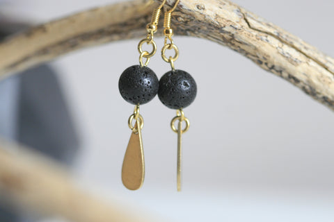 Lava Earrings | Essential Oil Diffuser Earrings