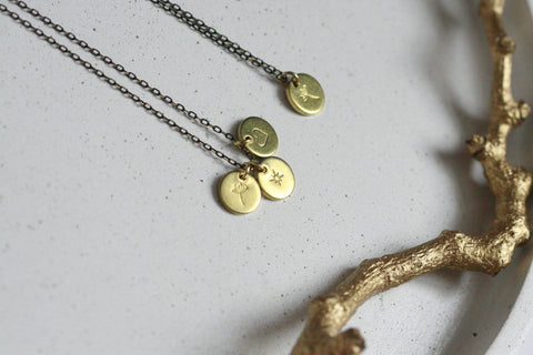 Delicate Brass Necklace | Custom Necklace - Kaiko Studio