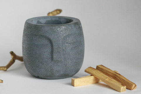Concrete Zen Planter | Gift Set - Kaiko Studio