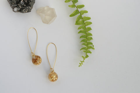 Goldleaf Sphere Earrings - Kaiko Studio