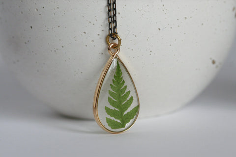 Wicklow Fern Necklace | Botanical Jewellery - Kaiko Studio