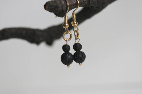 Lava Bead Earrings | Aromatherapy - Kaiko Studio