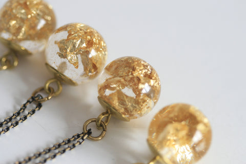 Goldleaf Sphere Necklace - Kaiko Studio