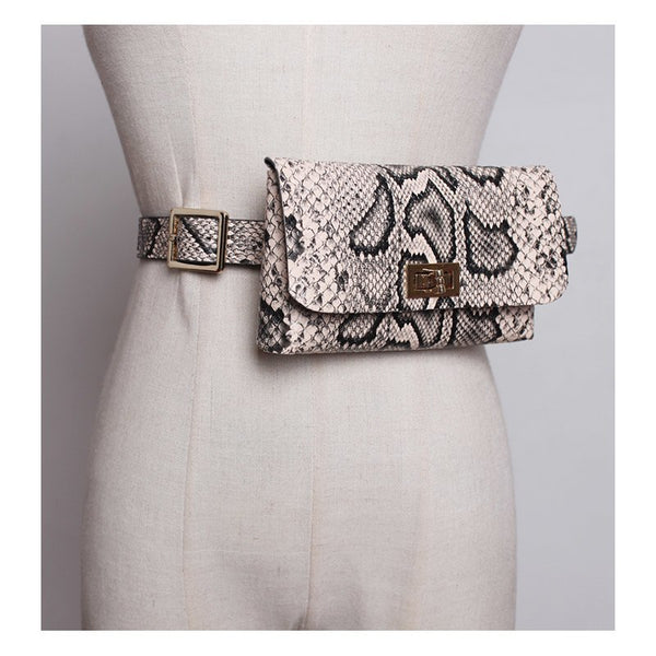Luxury Leather Fanny Waist Belt