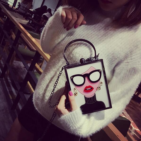 All About the Personality Crossbody Clutch Handbag