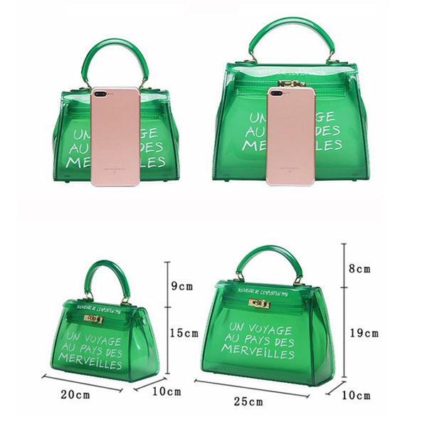 Shoulder Bags Candy Color Jelly Bags Handbag
