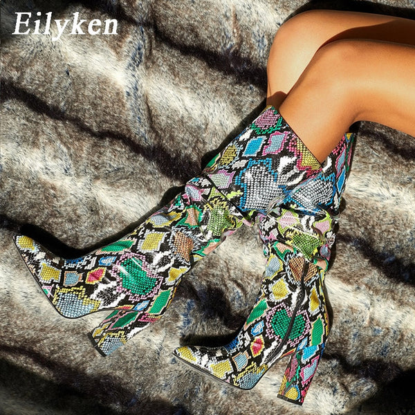 Multi Animal Print Bootie Stiletto