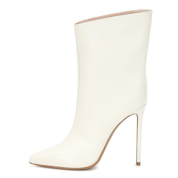 White On Point Bootie Stiletto
