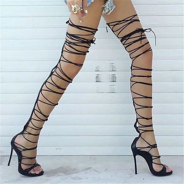 Over It Knee High Gladiator Stiletto