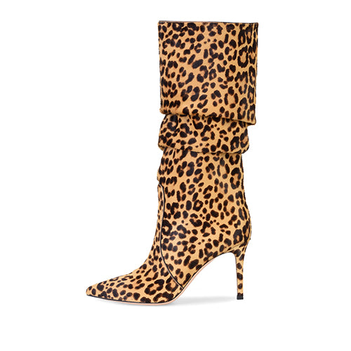 Animal Print Slouch Boot Stiletto