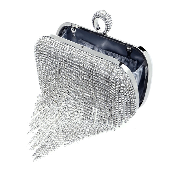 Crystal Diamond Finger Ring Evening Bags Handbags