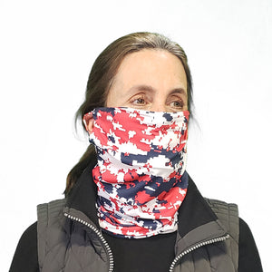 DistanZ EcoTec Health Gaiter - Red/White/Blue Camo MASK2020C