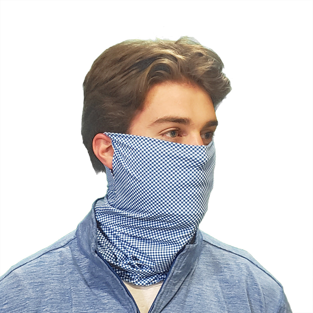 DistanZ EcoTec Health Gaiter - Nautical Gingham MASK2020C