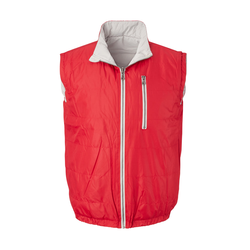 THE YELLOWSTONE QUILTED REVERSIBLE VEST - Crimson/ Cloud 74905V