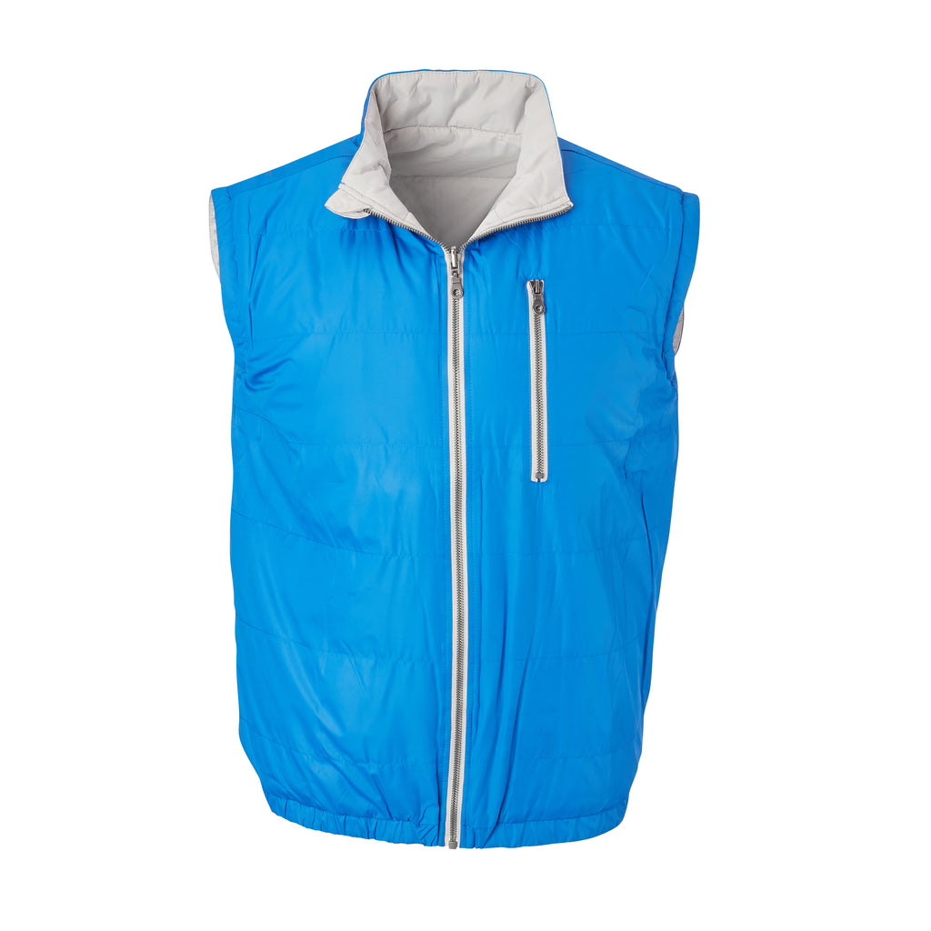 THE YELLOWSTONE QUILTED REVERSIBLE VEST - Nautical/ Cloud 74905V