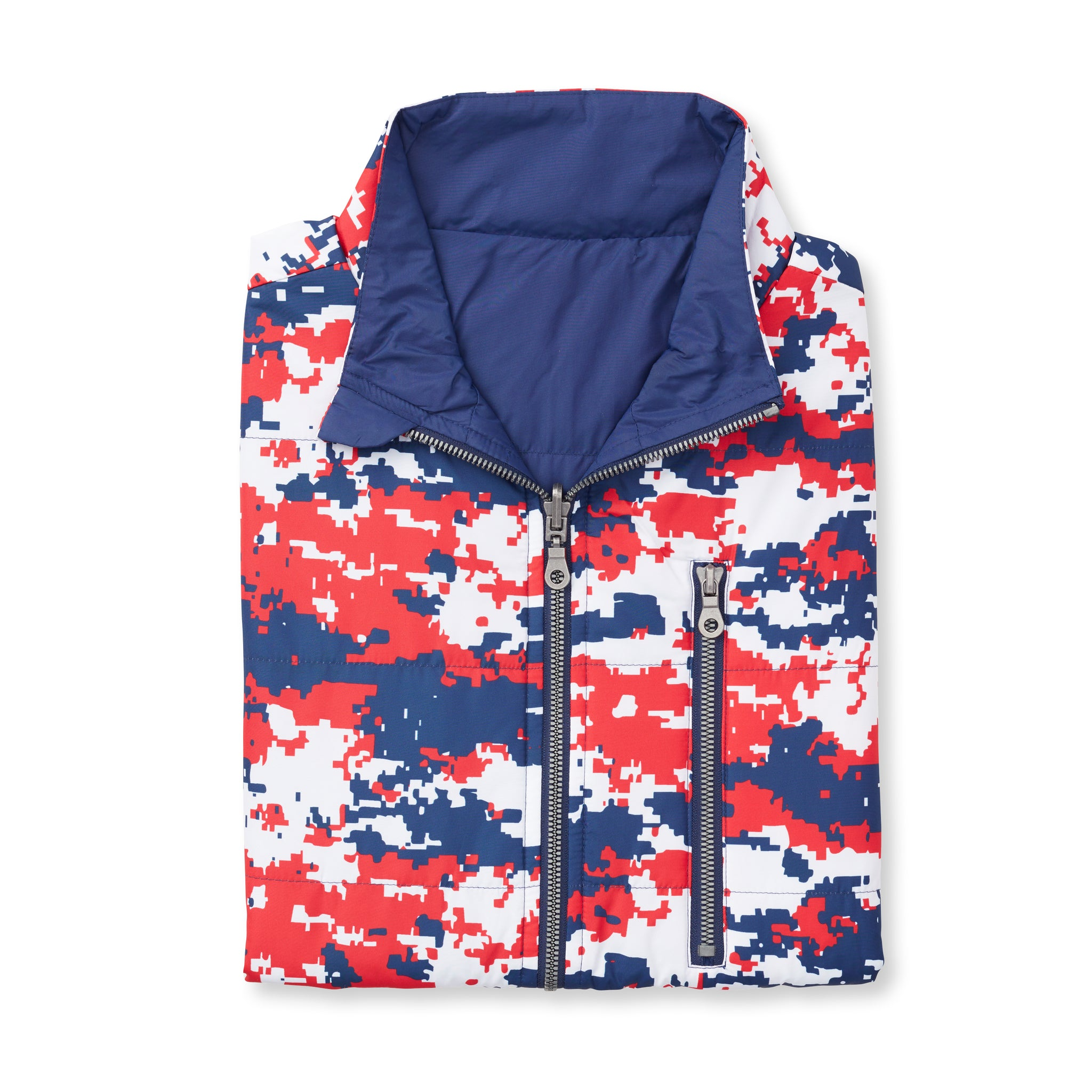 Quilted REVERSIBLE Vest - Old Glory/ Navy 74905V
