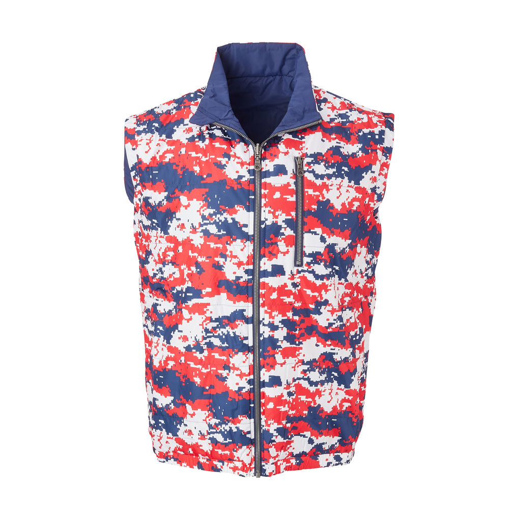 THE YELLOWSTONE QUILTED REVERSIBLE VEST - Old Glory/ Navy 74905V
