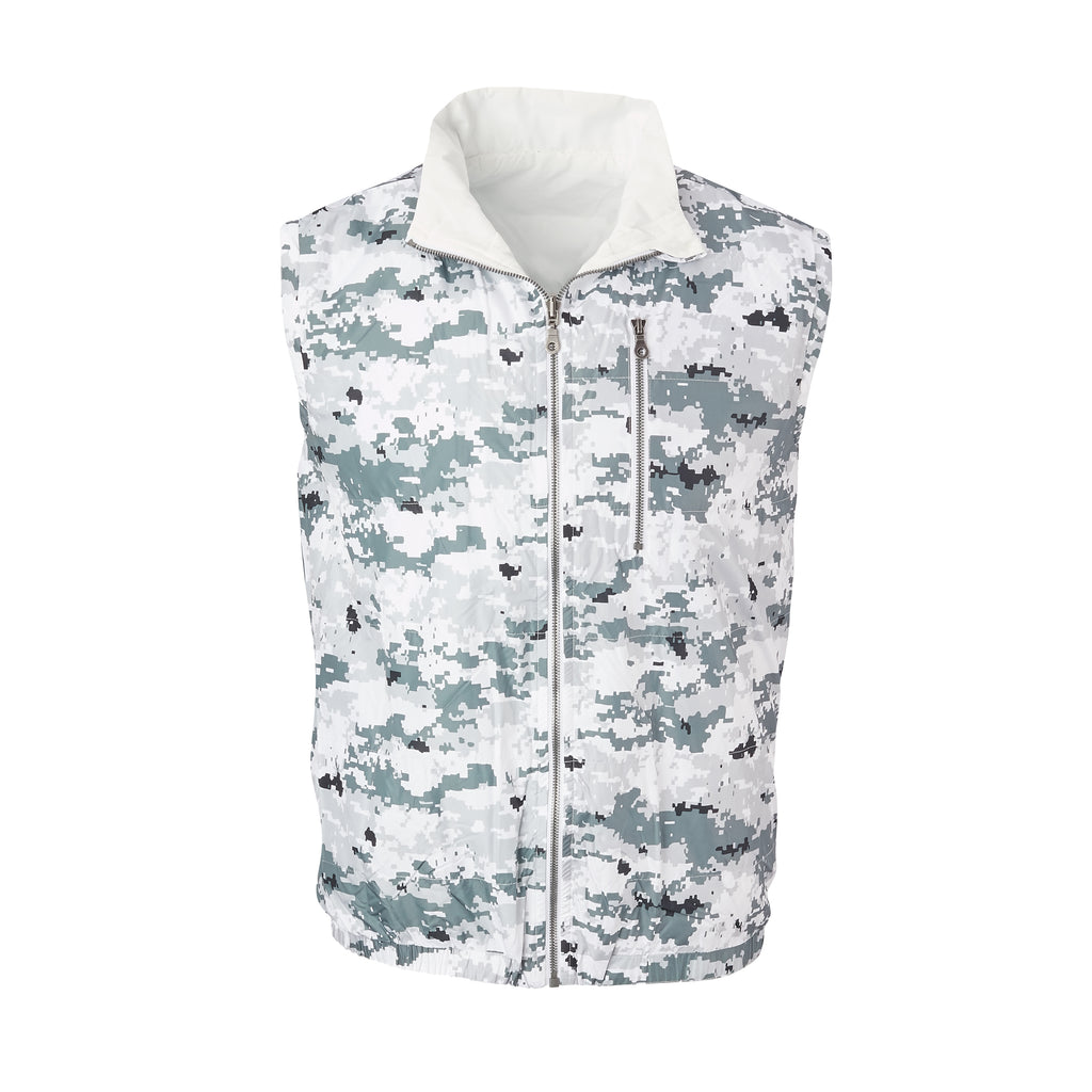 THE YELLOWSTONE QUILTED REVERSIBLE VEST - Polar Camo/ White 74905V