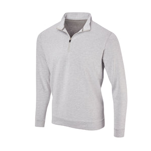 THE ASPEN LUXURY INTERLOCK HALF ZIP PULLOVER - Cloud/Black 77304HZ