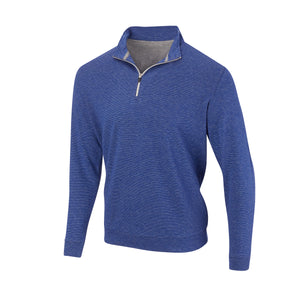 THE ASPEN LUXURY INTERLOCK HALF ZIP PULLOVER - Nautical/Silver 77304HZ