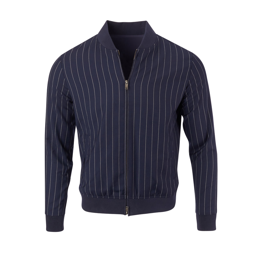 THE EASTWOOD CASHMERE BLEND JACKET - Navy 85809FZ