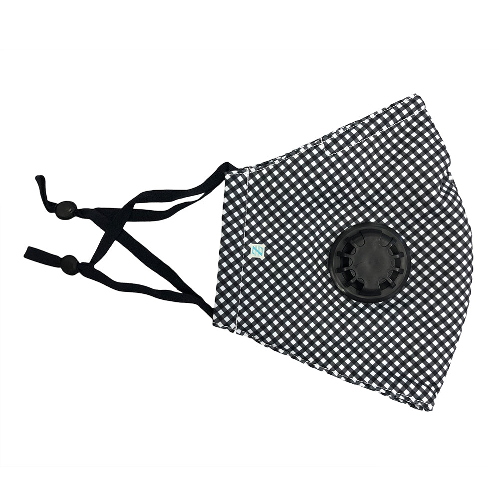 DistanZ EcoTec Health Mask - Black Gingham MASK2020D
