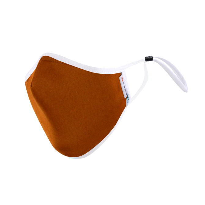 DistanZ Polygiene Health Mask with filter pocket-Burnt Orange-3.0 Style MASK20POLYT