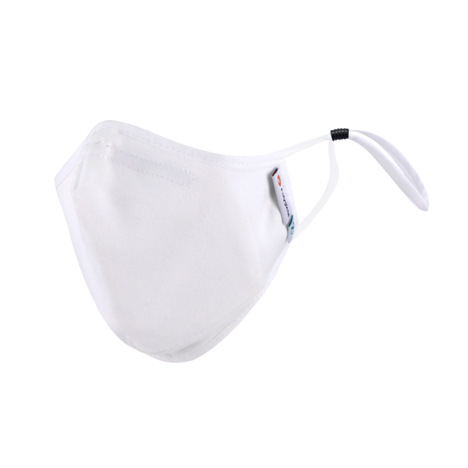 DistanZ Polygiene Health Mask with filter pocket-White-3.0 Style MASK20POLYT