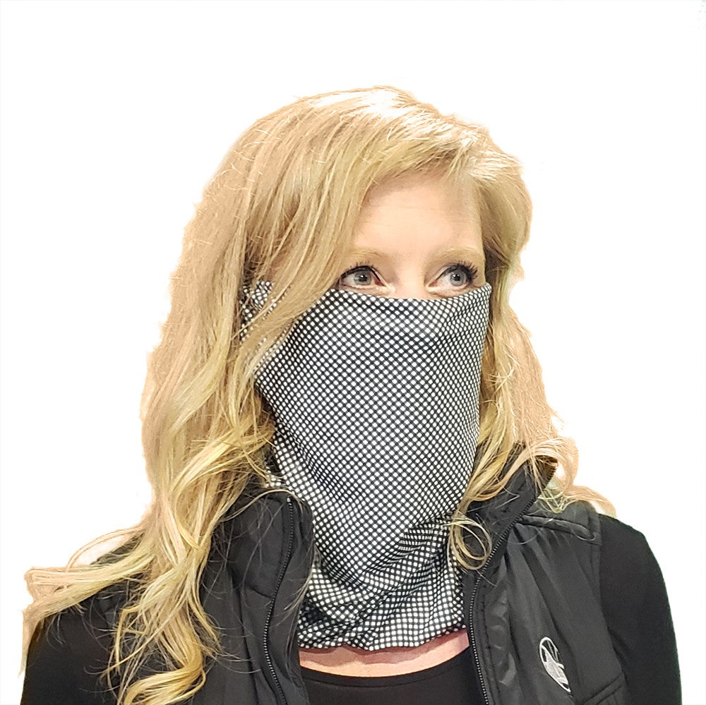 DistanZ EcoTec Health Gaiter - Black Gingham MASK2020C