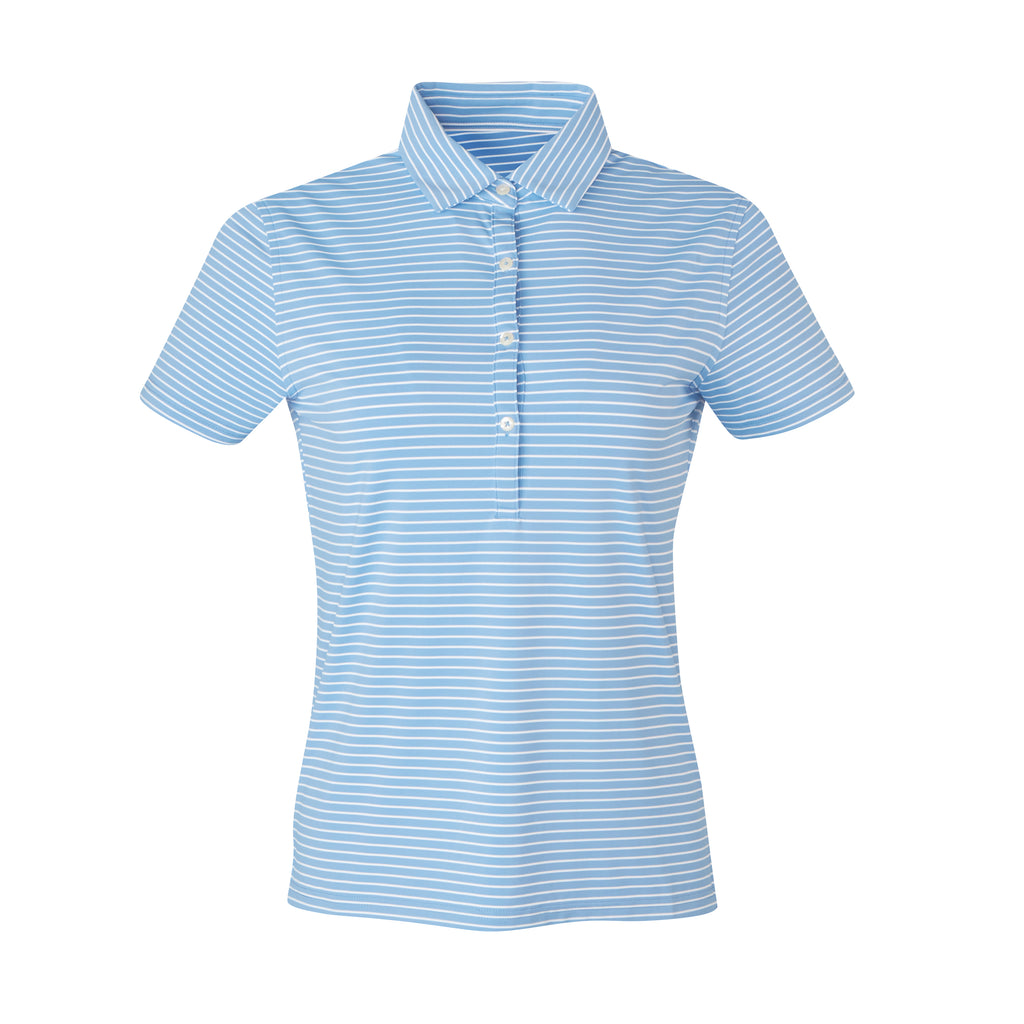 THE WOMEN'S CARMEL STRIPE POLO - Maui/White IS06809W
