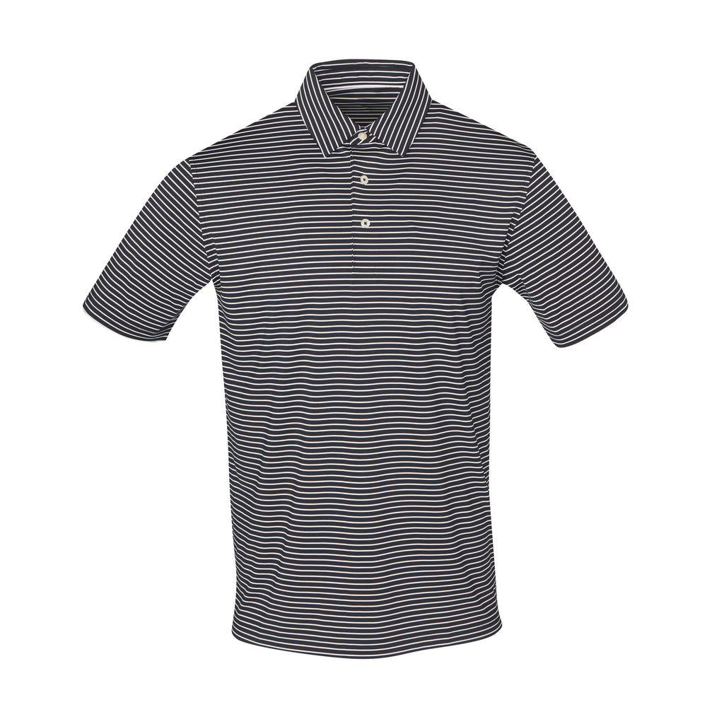 THE CARMEL STRIPE POLO - Black/White IS06809