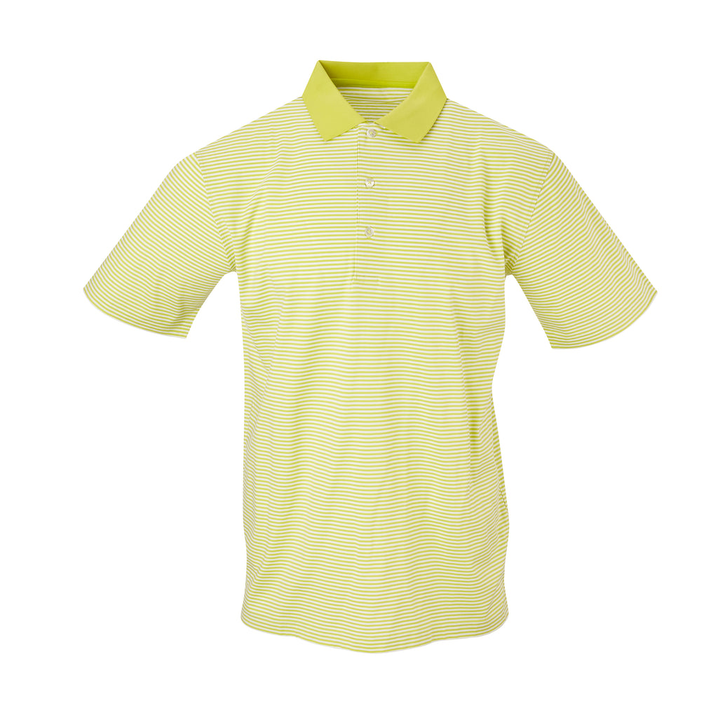 THE COMMANDER MERCERIZED STRIPE POLO - Lime/White IS22210A