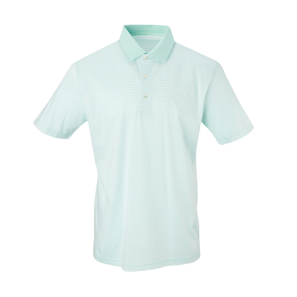 THE COMMANDER MERCERIZED STRIPE POLO - Mist/White IS22210A