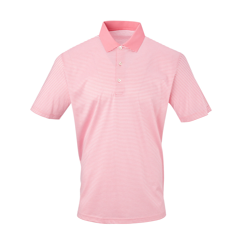THE COMMANDER MERCERIZED STRIPE POLO - Peppermint/White IS22210A