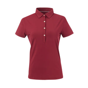 THE WOMEN'S CLASSIC  SHORT SLEEVE POLO - Merlot IS26000W