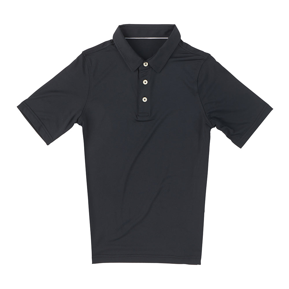 THE CLASSIC YOUTH SHORT SLEEVE POLO - Black IS26000Y