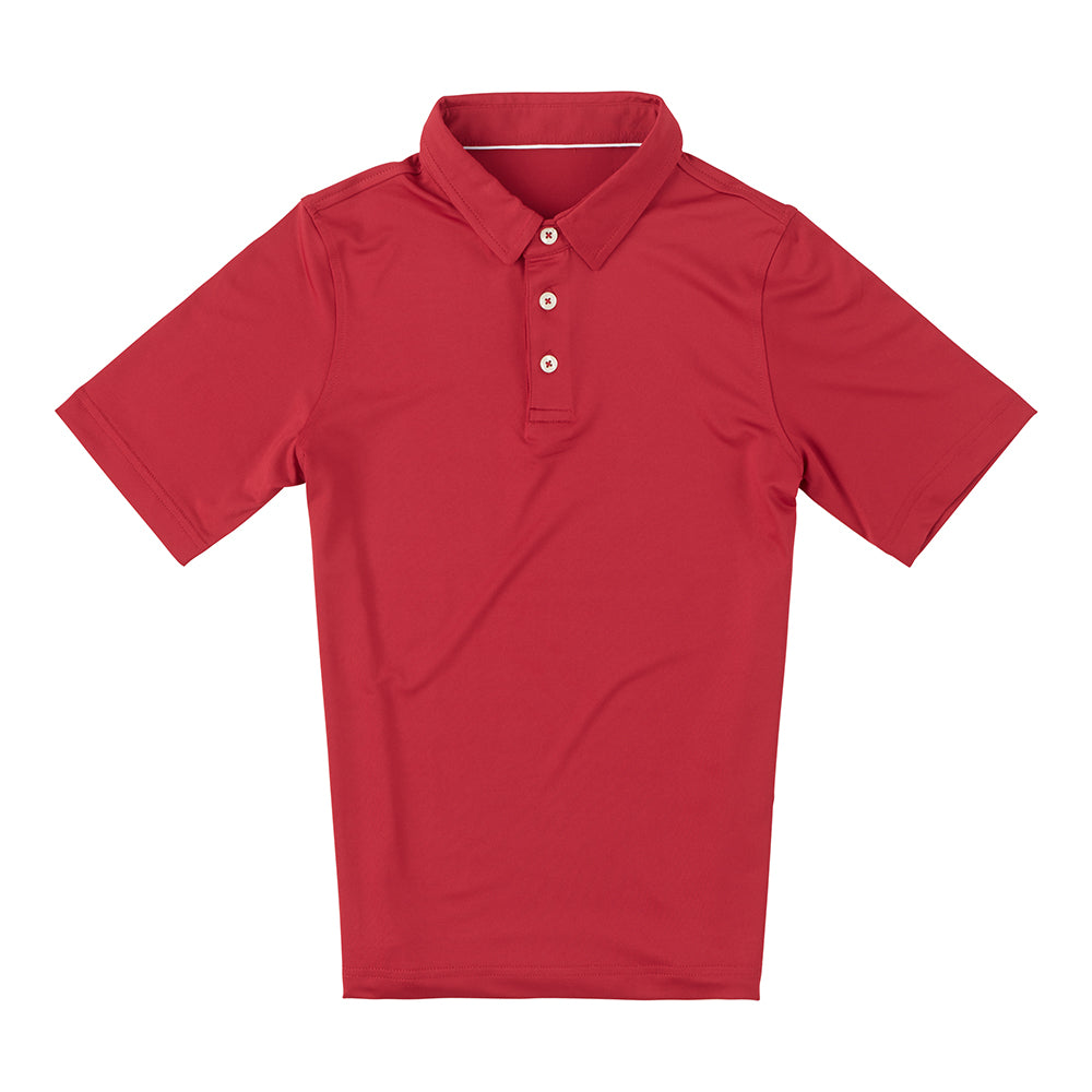 THE CLASSIC YOUTH SHORT SLEEVE POLO - Crimson IS26000Y