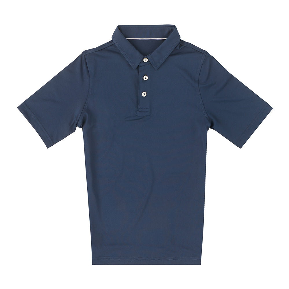 THE CLASSIC YOUTH SHORT SLEEVE POLO - Navy IS26000Y