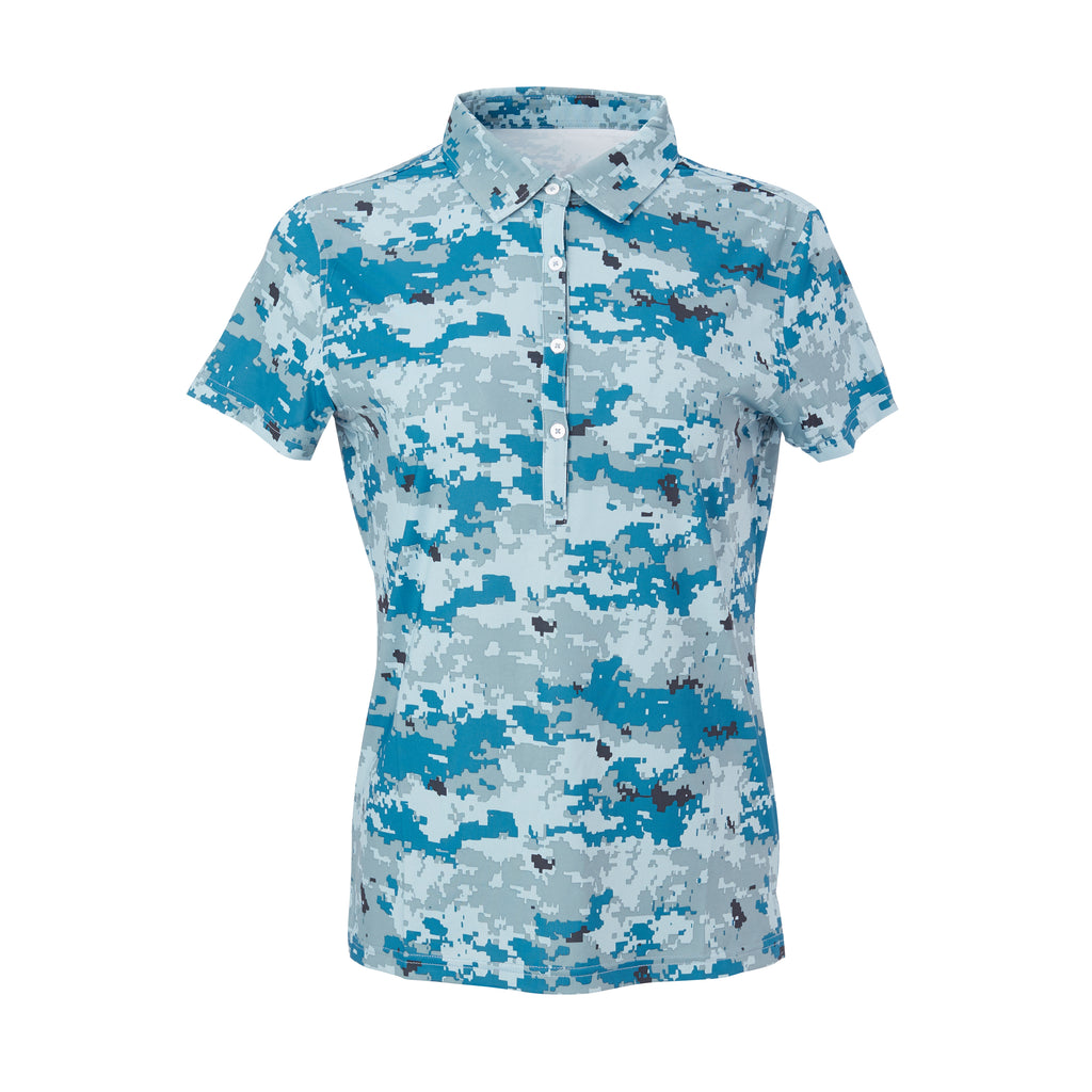THE WOMEN'S PULIDO DIGITAL CAMO POLO - Sea & Air IS46002W