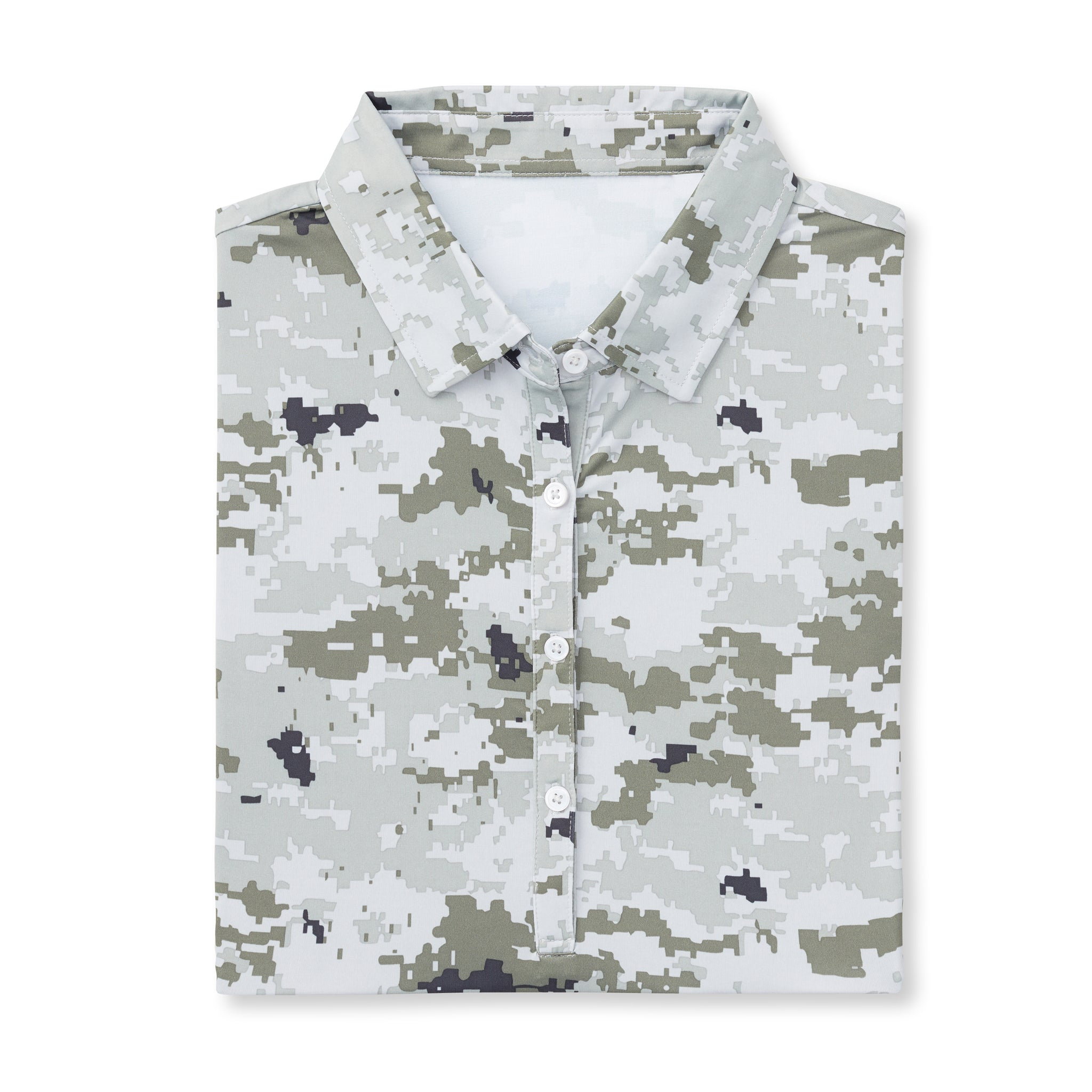 Womens Digital Camo Short Sleeve Polo - Desert IS46002W