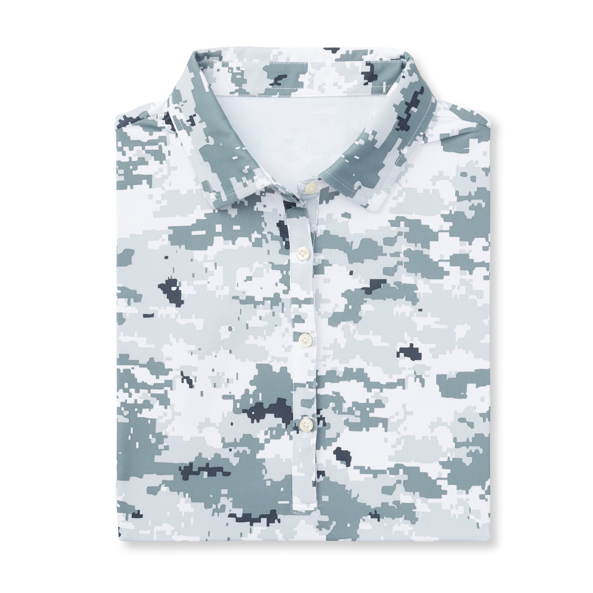 Womens Digital Short Sleeve Camo Polo - Polar IS46002W