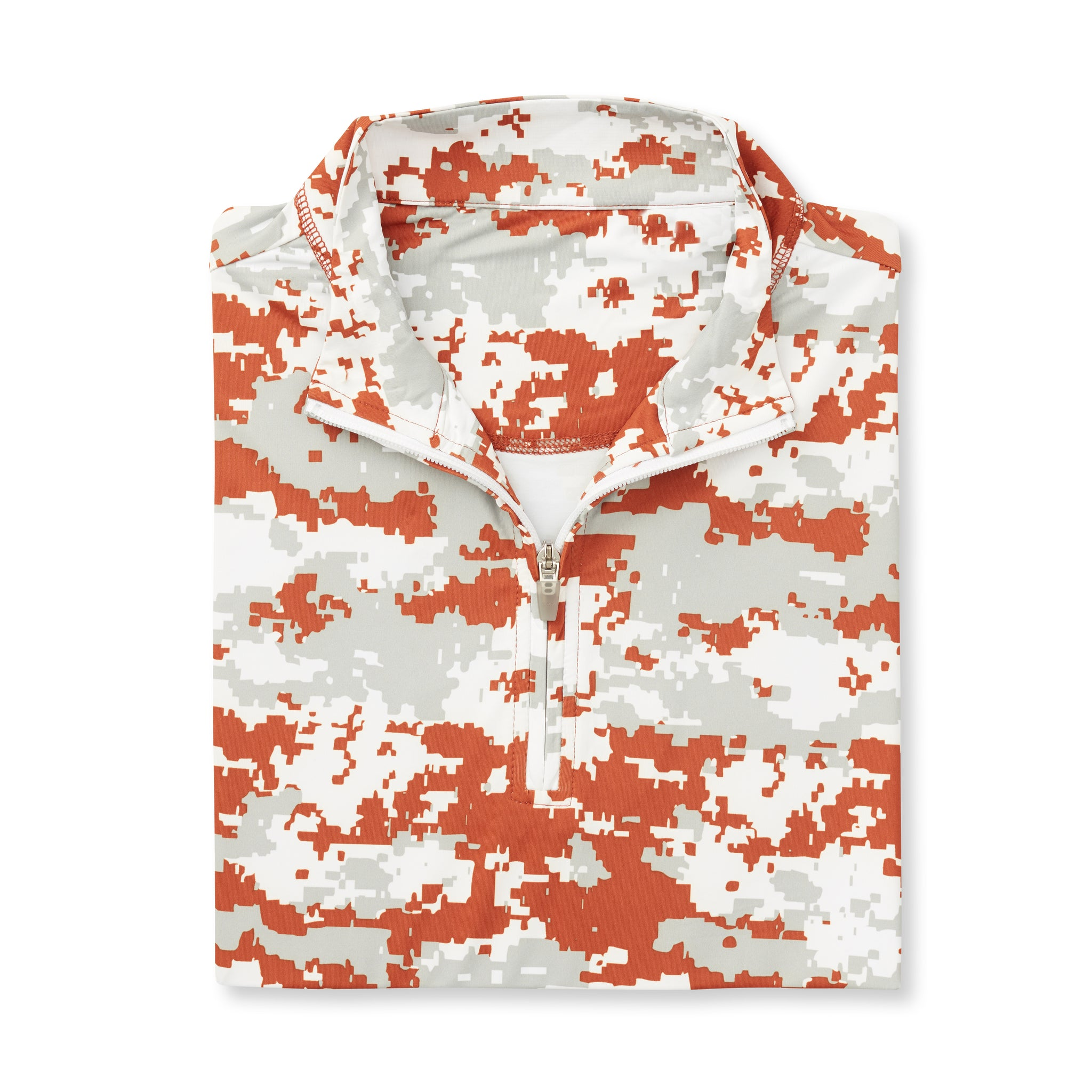 Digital Camo Half Zip - Burnt Orange IS46005